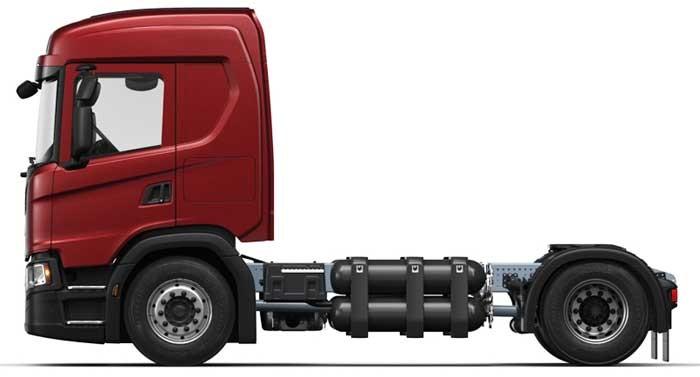 Scania G410 4x2 CNG — trekker met 13 liter gasmotor