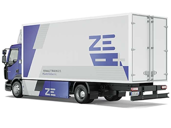 Renault D Wide ZE 4x2 — elektrisch aangedreven chassis