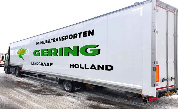 Talson F1510 - Een-assige trailer voor meubeltransport
