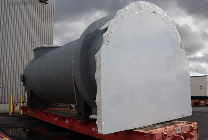 Large format shrink wrap — for large objects such as machines