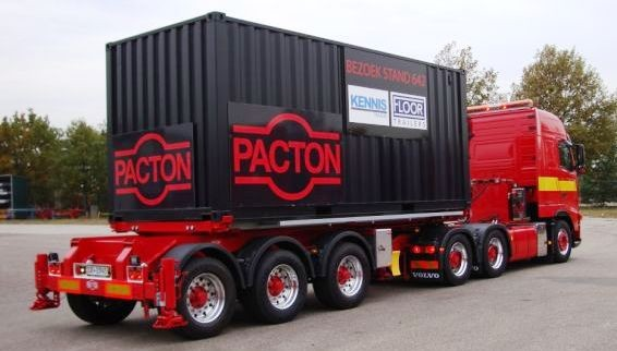 Pacton Container X Press 3 Assige Kipper Steillader