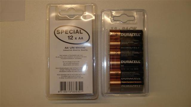 Knohopack Blisterverpakking voor batterijen