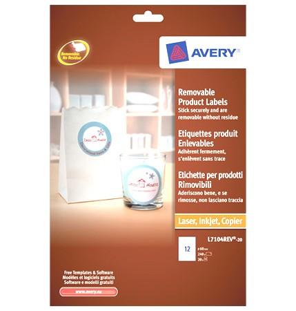 Avery L7104REV ronde etiketten