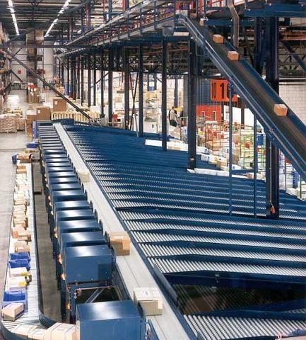 Van Riet Material Handling Systems Pusher Sorter