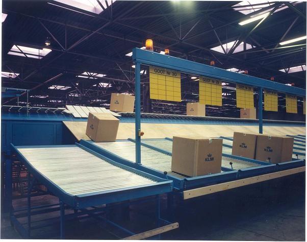 Van Riet Material Handling Systems Tilt Tray Sorter