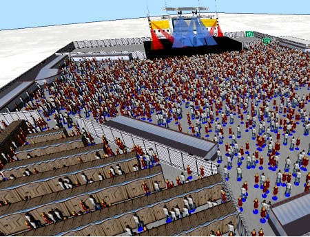 Pedestrian Dynamics Crowd Simulation Software
