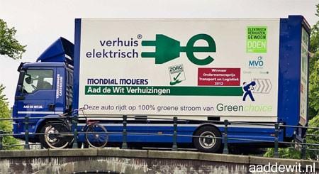 Verhuizen met een elektrische verhuisauto