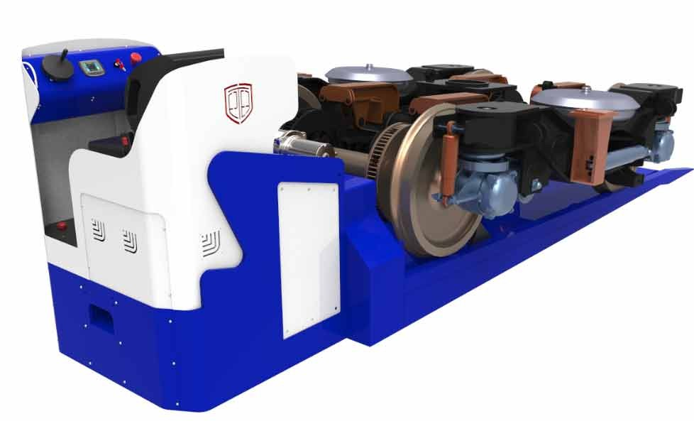Hoe verplaatst men zwaar materieel, zoals treinwielstellen?