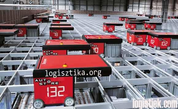 Swisslog Autostore opslagautomaat voor verpakte kleding