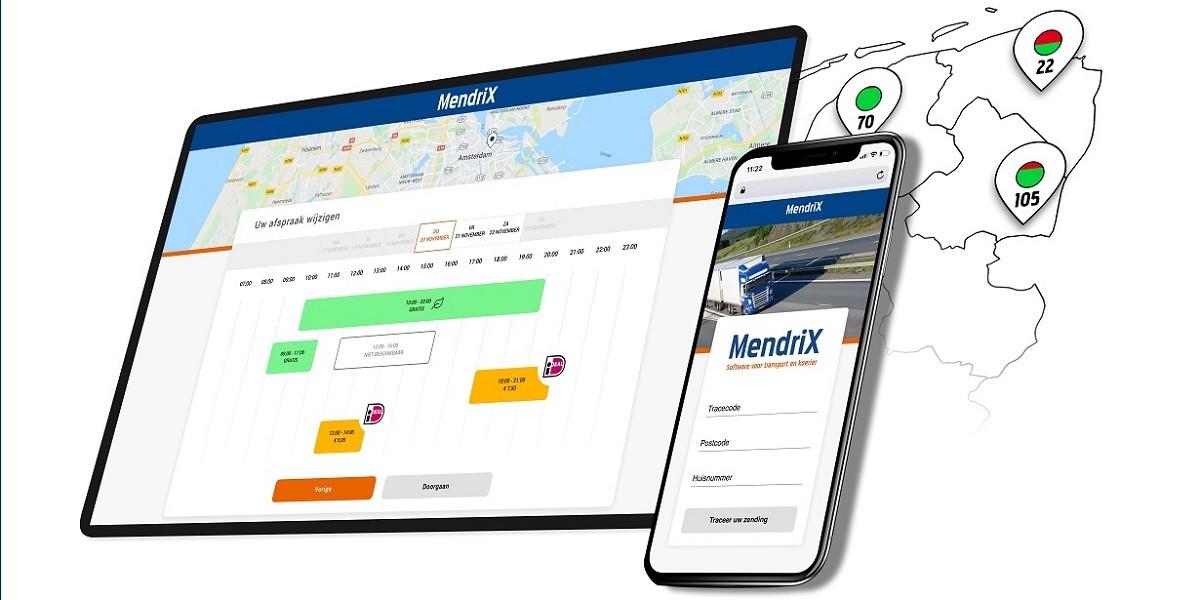 MendriX TMS Booking concept Transport Management Systeem en bijbehorende app
