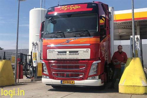 Transportondernemer Van Geffen is enthousiast over zijn LNG-trucks