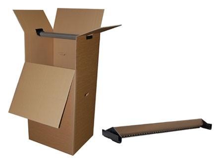 Clothes box — unprinted, brown