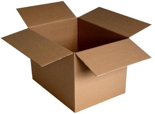 American folding box — corrugated cardboard (Fefco 0201)