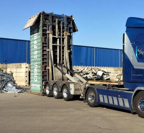 Vako Steillader — Kippanlage für Container
