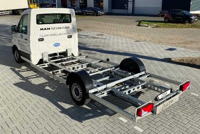 te koop: demovoertuig — MAN - Coxx TGE 3.140 - X-Low chassis-cabine met laag chassis