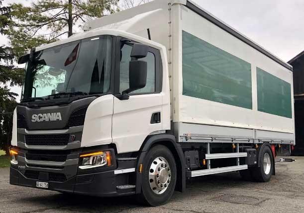 Scania P280 B — twee-assig distributiechassis